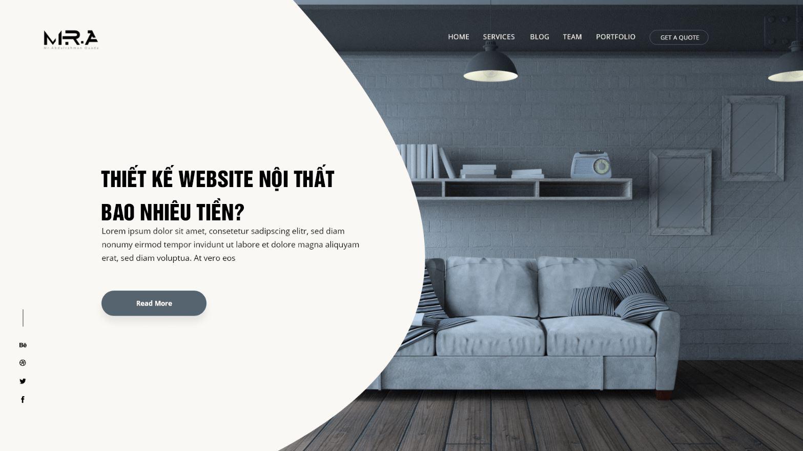 Thiết kế website nội thất hết bao nhiêu tiền
