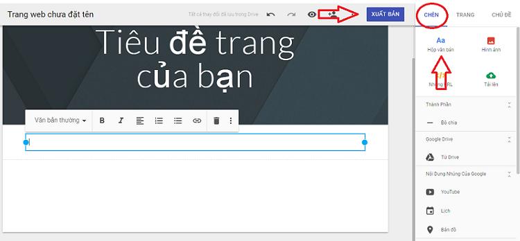 Tạo website miễn phí trên Google