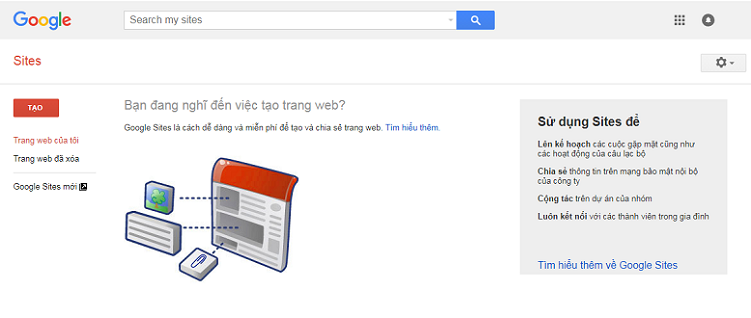 Tạo website với Google Site