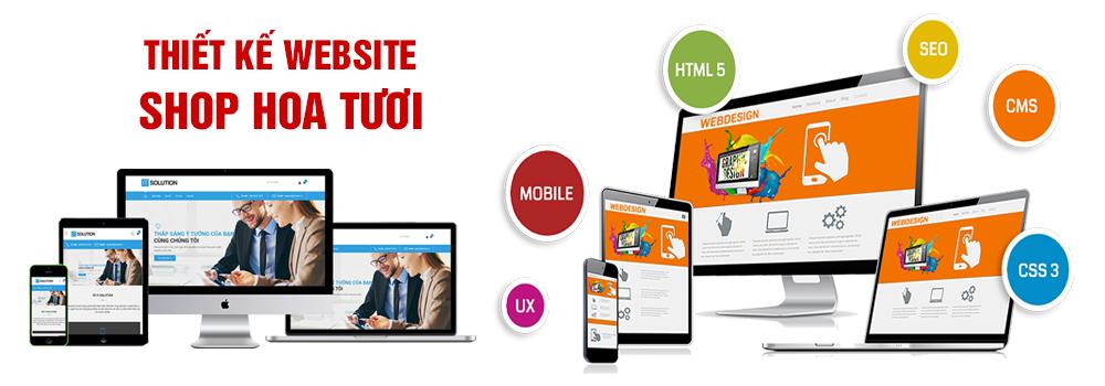 Thiết kế website shop hoa tươi
