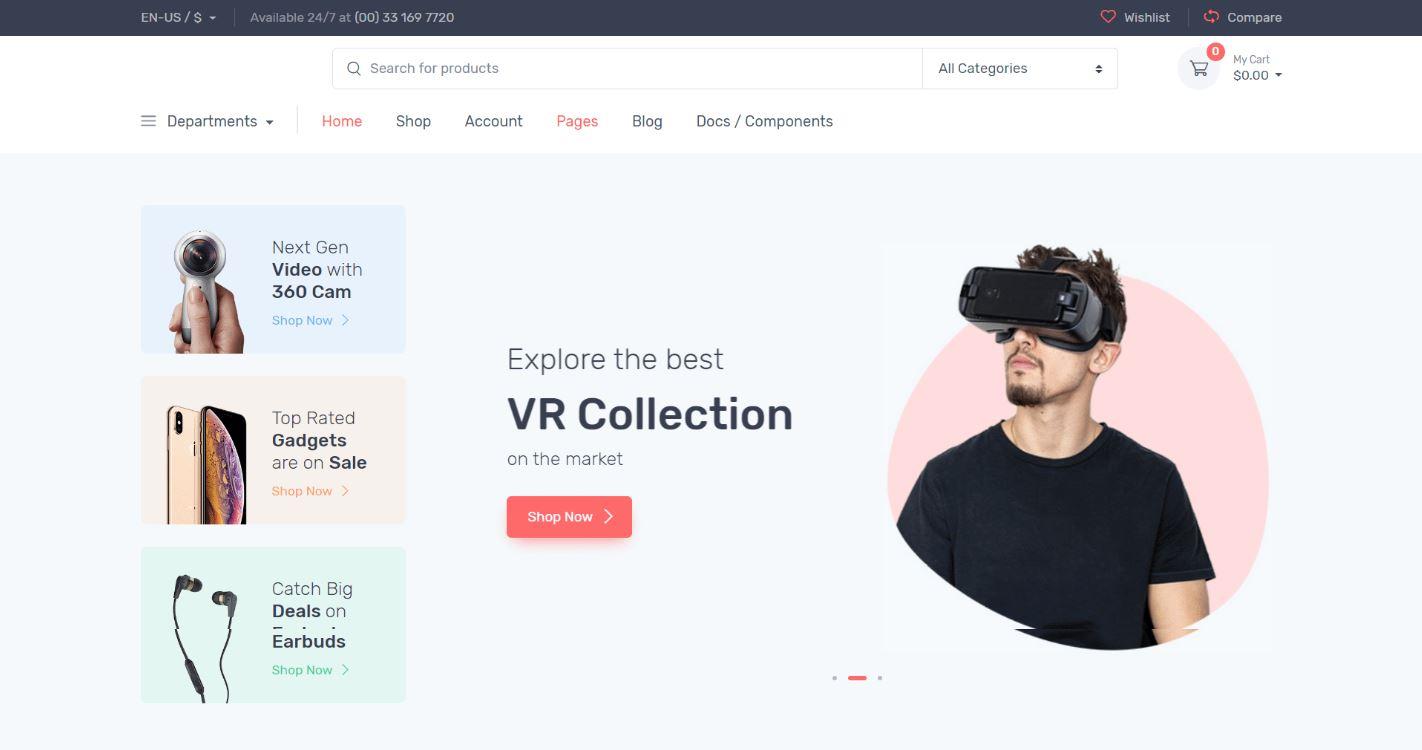 Thiết kế website thiết bị điện tử