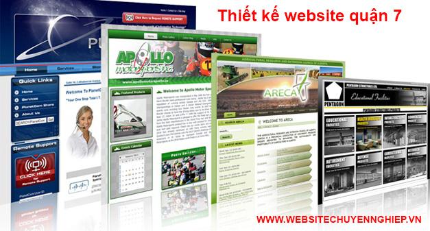 Thiết kế website quận 7 uy tín, chuyên nghiệp, giá rẻ