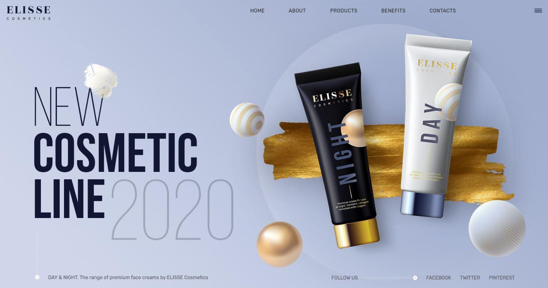 Thiết kế website mỹ phẩm