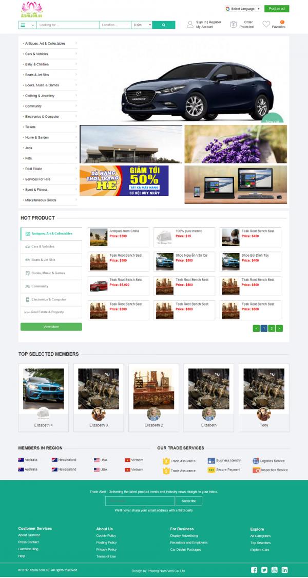 Mẫu website công ty quảng cáo MS28