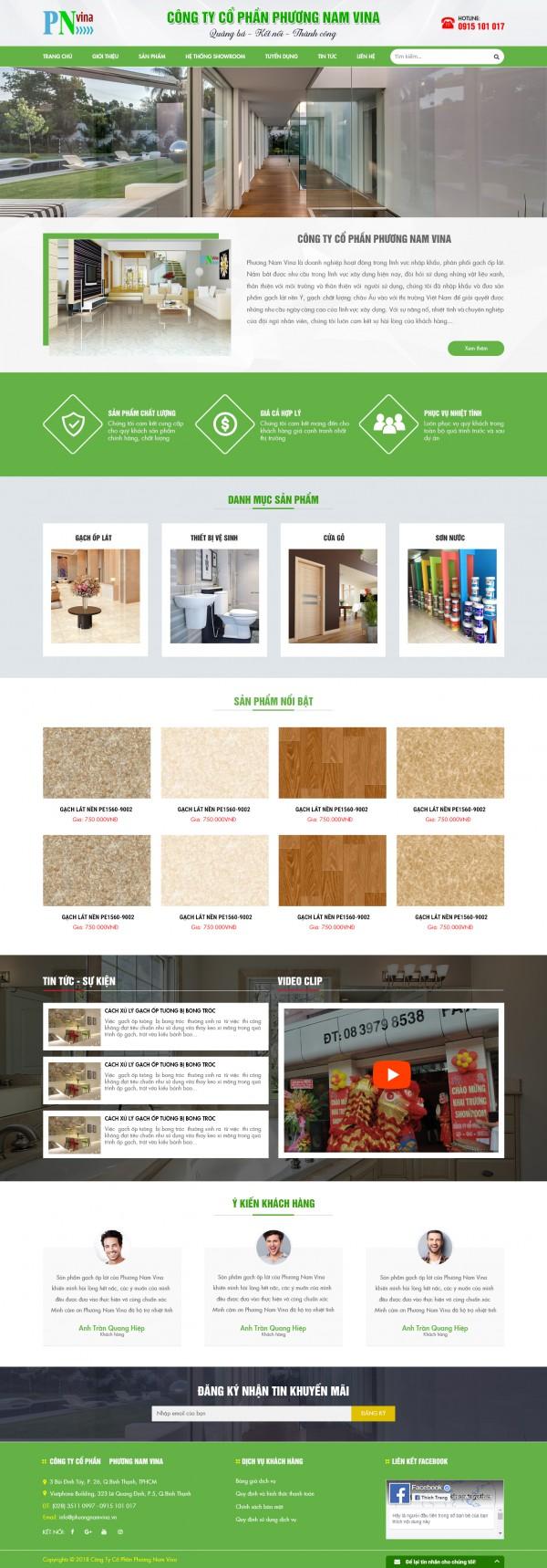 Giao diện website Công ty Cổ phần MS35