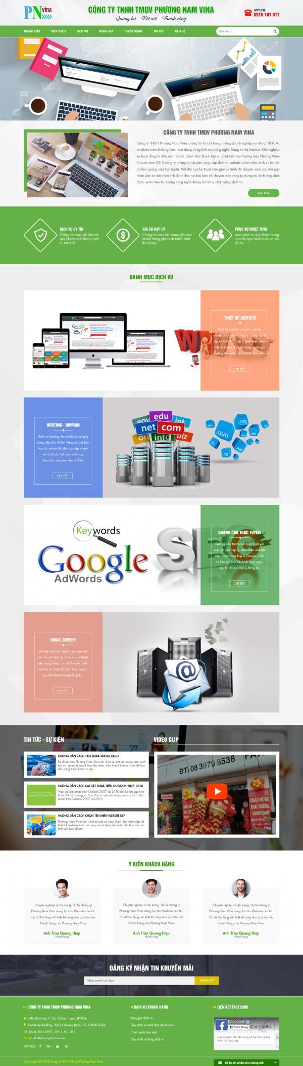 Mẫu website Công ty Dịch Vụ MS33