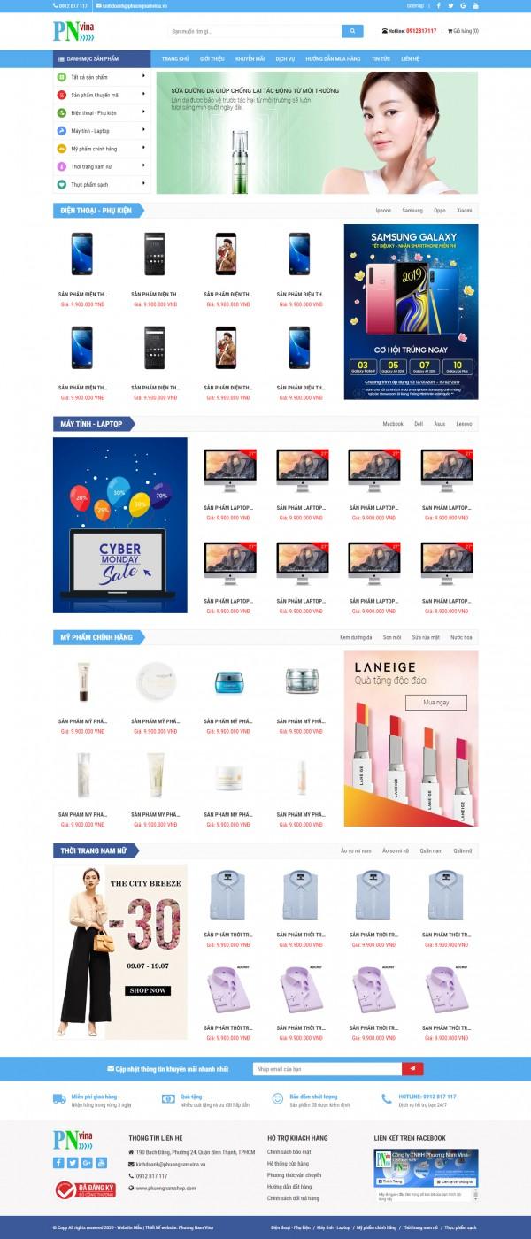 Giao diện web bán hàng đẹp - MS18