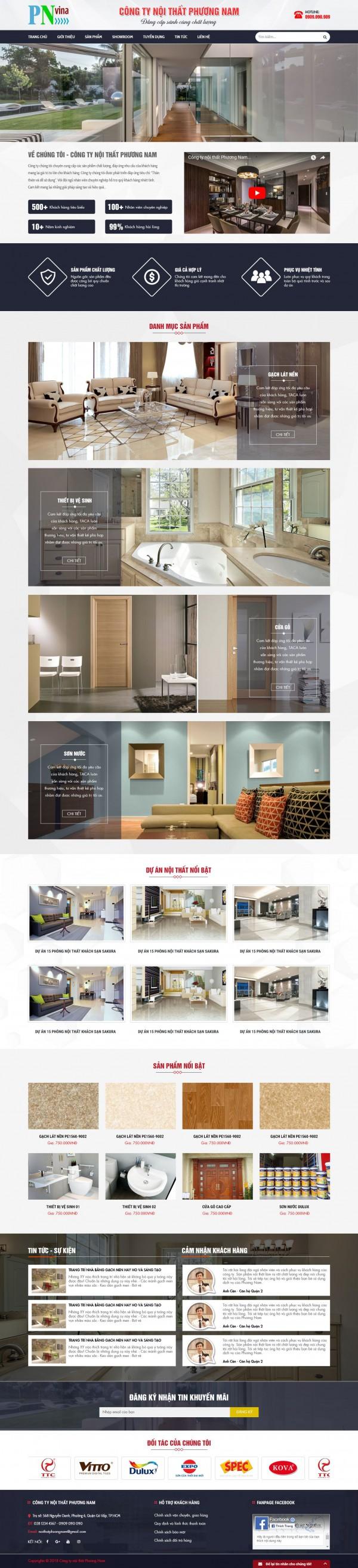 Mẫu giao diện website bán hàng - MS39