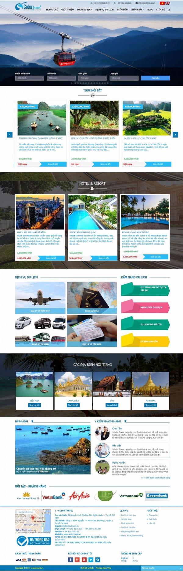 Mẫu website công ty du lịch - MS15