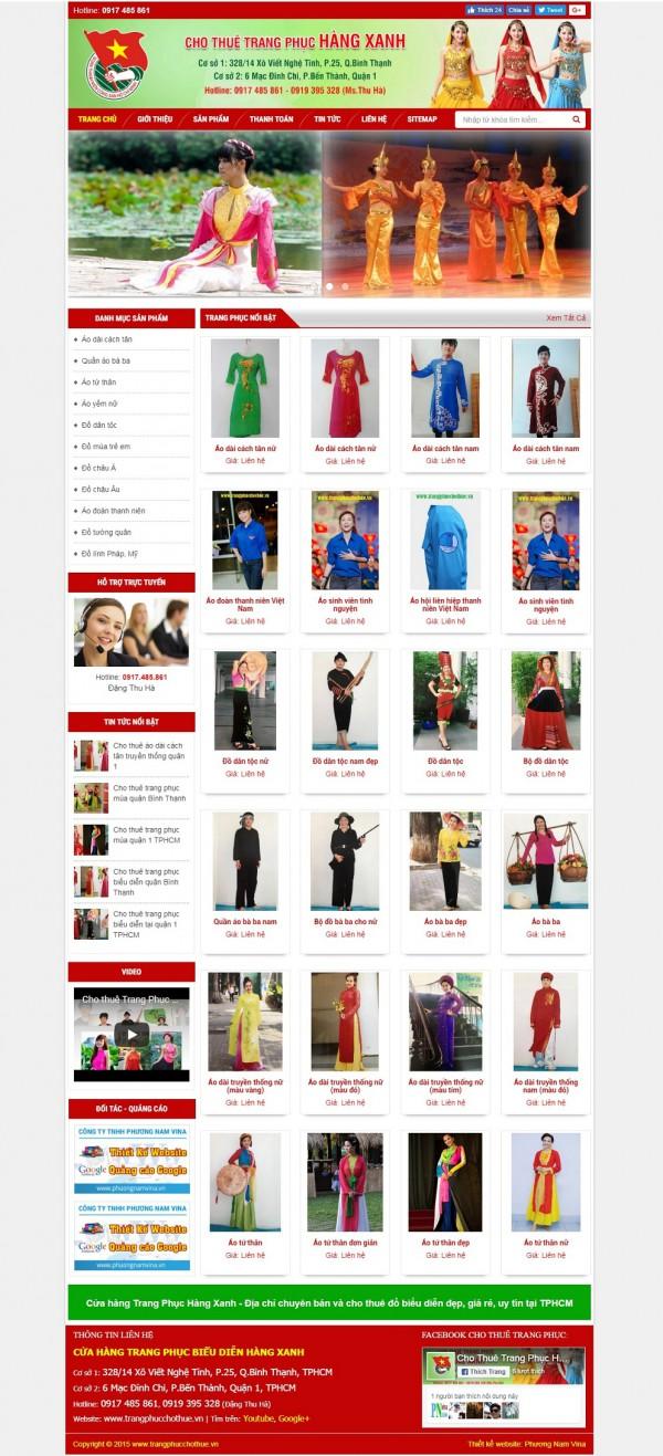 Mẫu website bán hàng thời trang - MS22