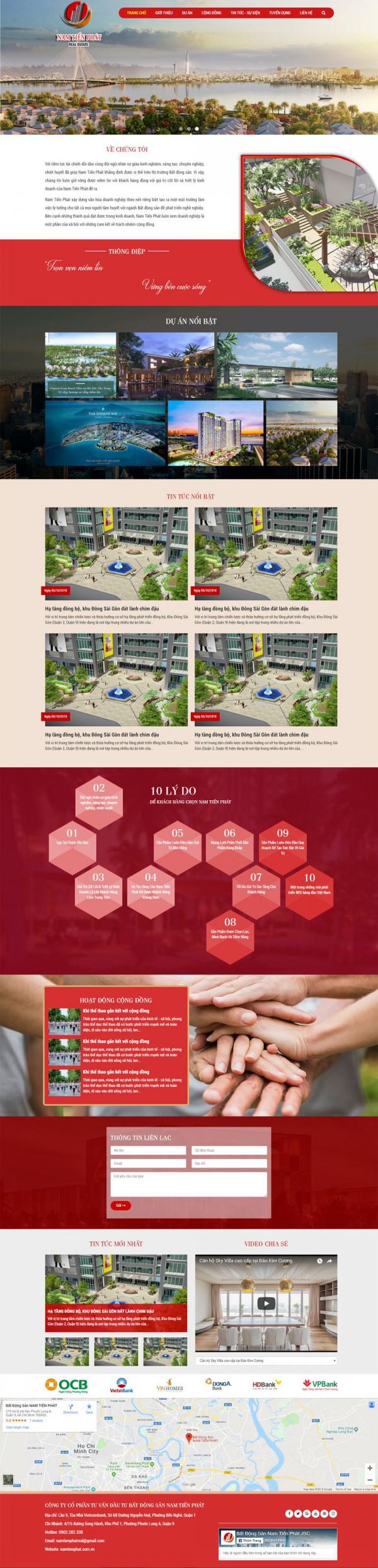 Mẫu website bán đất - MS42
