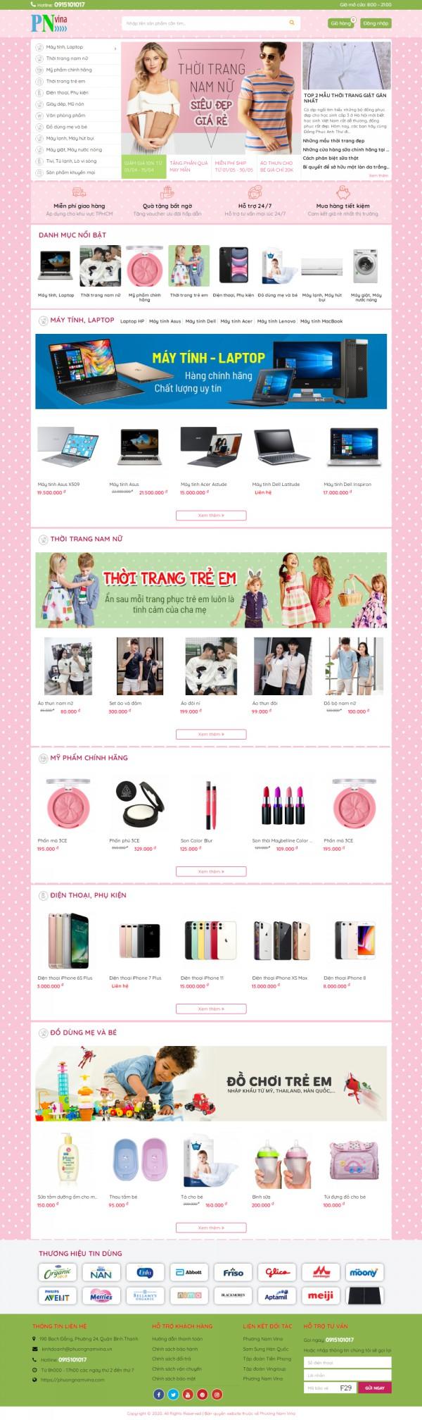 Mẫu website bán hàng đẹp - MS8