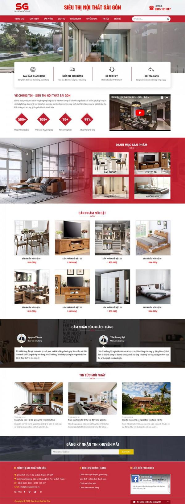 Mẫu website bán hàng đẹp - MS37