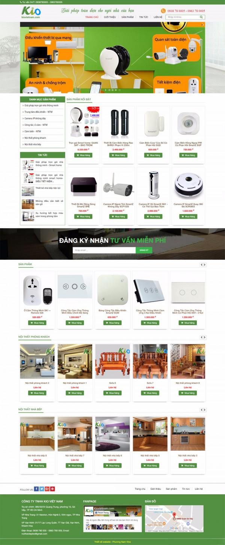 Mẫu website bán hàng điện tử - MS03