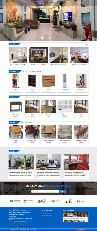 Mẫu website bán hàng nội thất - MS23