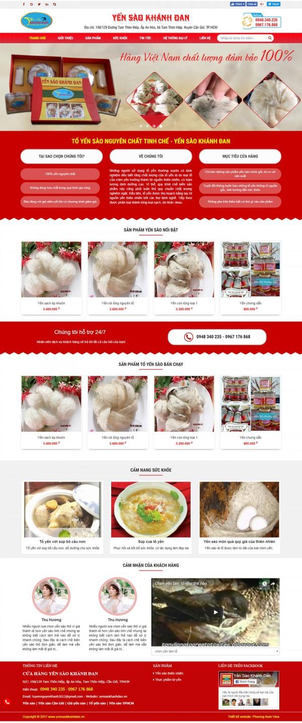 Mẫu website bán hàng yến sào MS09