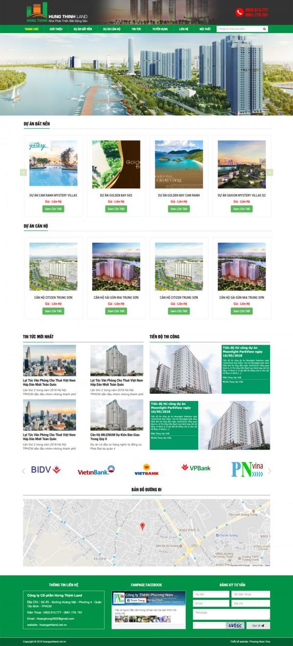 Mẫu website bán nhà đất - MS41