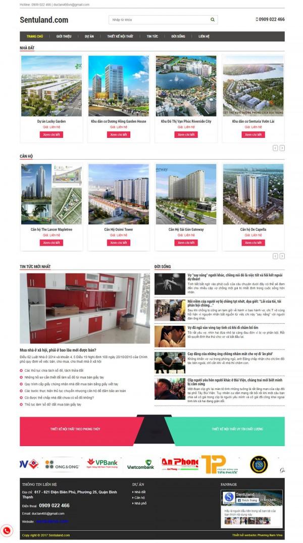 Mẫu website bất động sản - MS02