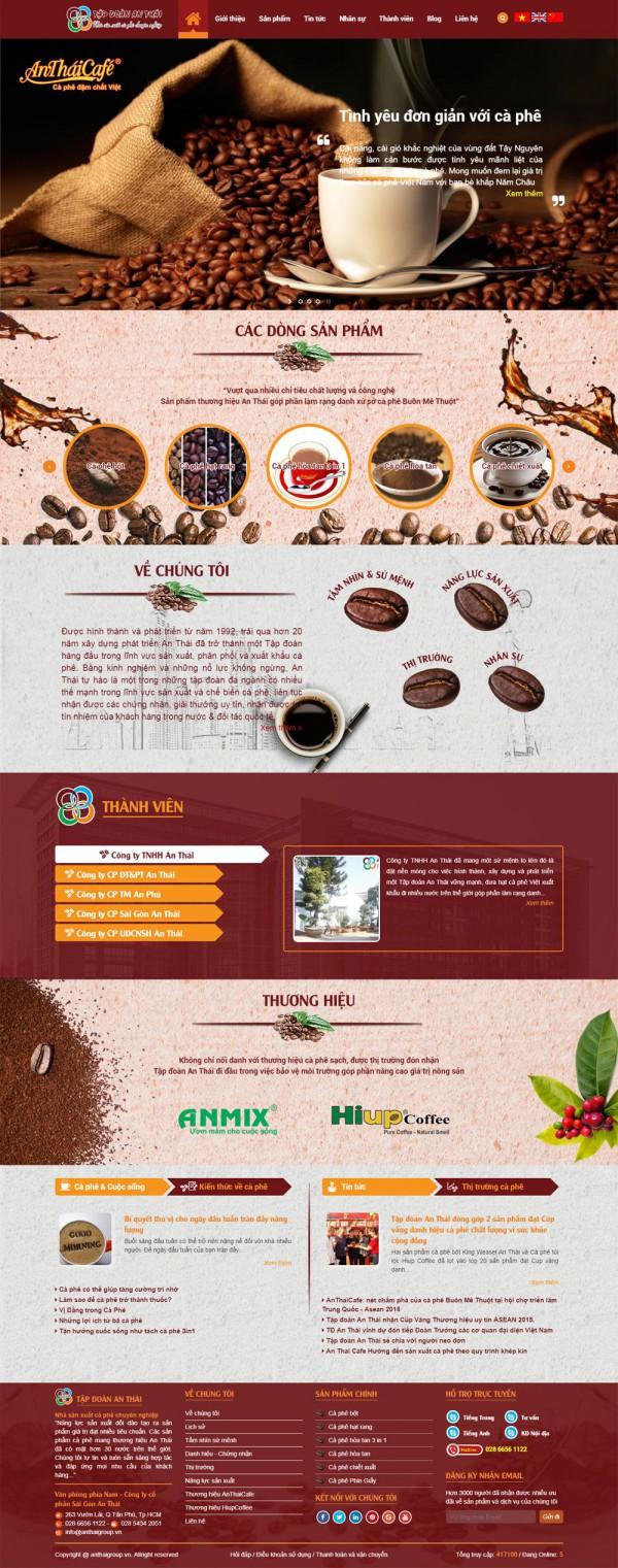 Mẫu website cà phê An Thái - MS01