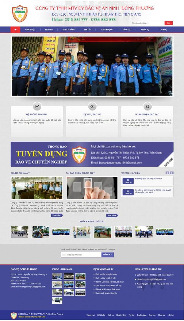Mẫu website công ty bảo vệ - MS13