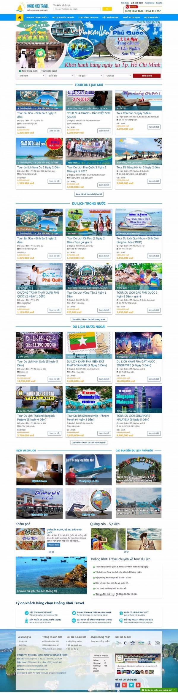 Mẫu website du lịch - MS17