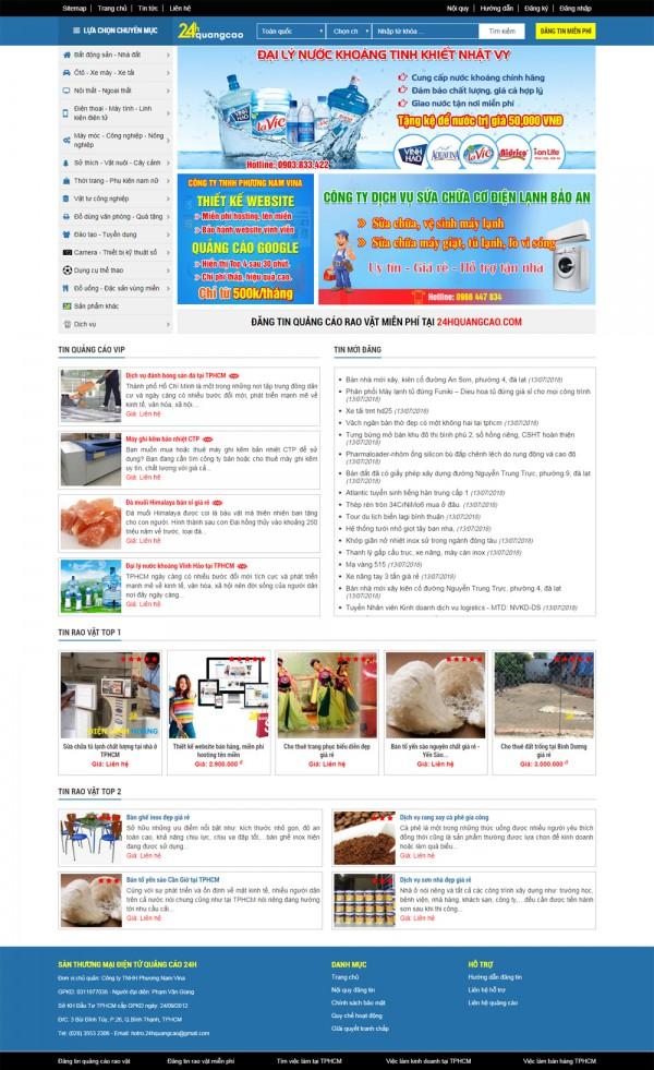 Mẫu website công ty quảng cáo MS30