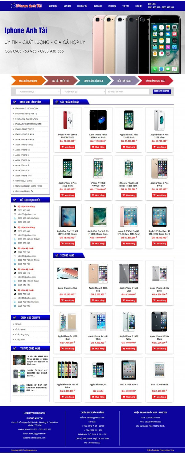 Mẫu website điện thoại Apple - MS06