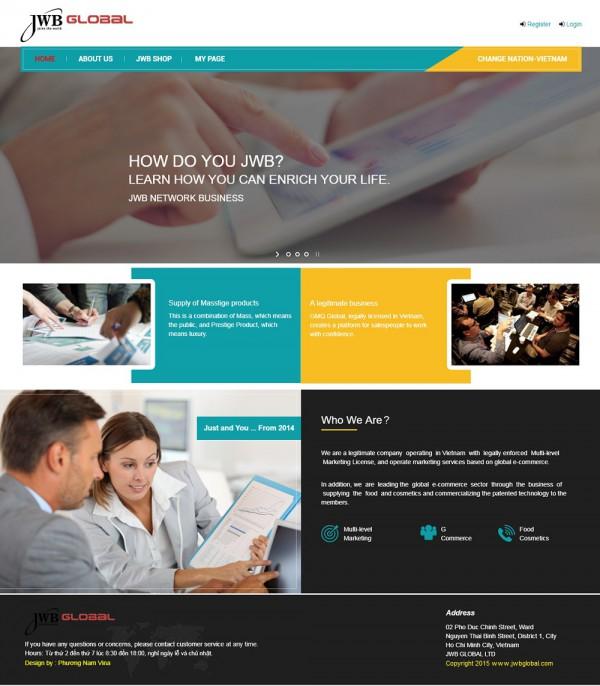 Mẫu website giới thiệu công ty MS27