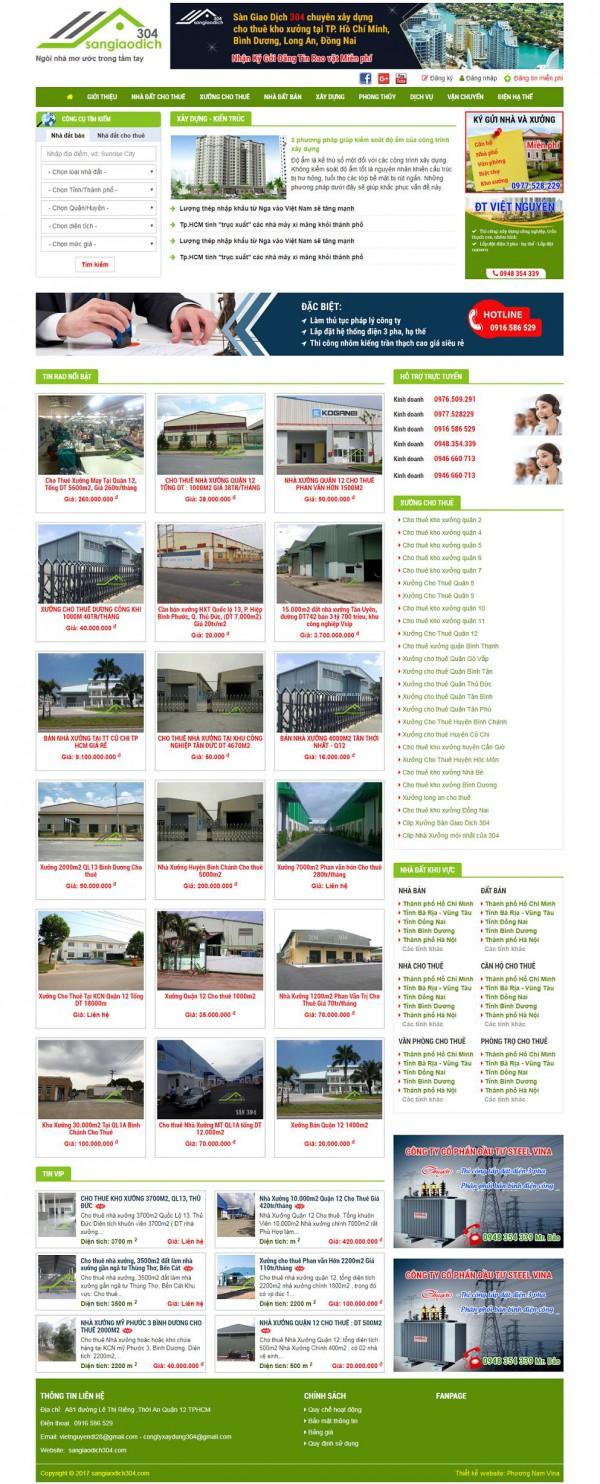 Mẫu thiết kế website nhà đất - MS11