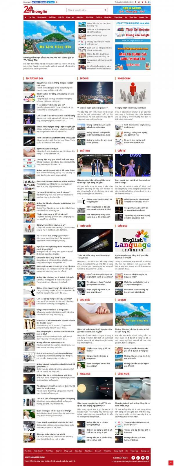 Mẫu thiết kế website tin tức MS29